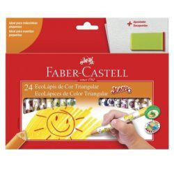 Lápis de Cor Jumbo Faber Castell 24 Cores Triangular