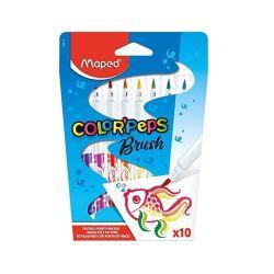 Caneta Hidrográfica Maped ColorPeps Brush 10 Cores