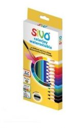 Lápis De Cor Aquarelável Sivo 12 Cores + Brush Apontador Full