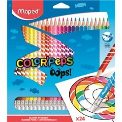 Lápis Apagáveis Maped Color Peps Oops! 24 Cores