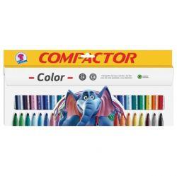 Canetinha Hidrográfica Compactor Color Jumbo 24 Cores