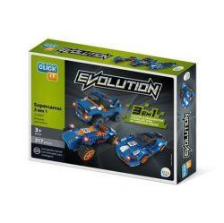 Evolution 3 em 1 Super Carros 317 Peças Click It