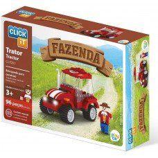 Trator Da Fazenda 96 Peças Click It