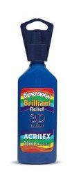 Tinta Dimensional Brilliant Relevo Azul Turquesa