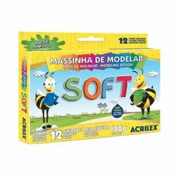 Massinha De Modelar Soft Com 12 Cores Base Amído