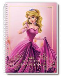 Caderno Pequeno 80 Folhas Espiral Princesa Fashion