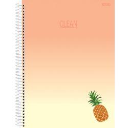 Caderno Espiral 10 Matérias 160 Folhas Clean