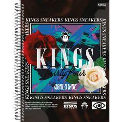 Caderno Espiral 10 Matérias 160 Folhas Kings Snkrs