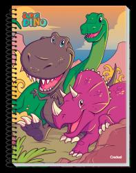 Caderno Pequeno Espiral 96 Folhas Super Dino