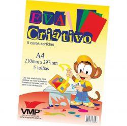E.V.A. Criativo A4 5 Cores
