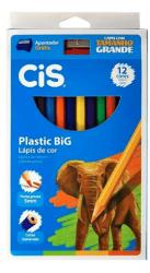 Lápis De Cor 12 Cores Plastic Big Jumbo