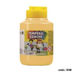 Tempera Guache 250ml Amarelo Pele