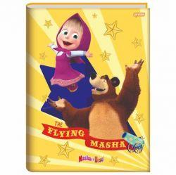 Caderno Pequeno Brochura 48 Folhas Masha e o Urso