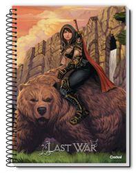 Caderno Grande Espiral 10 Matérias 160 Folhas Last War