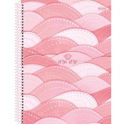 Caderno Espiral Grande 10 Matérias 160 Folhas Rosa Rose