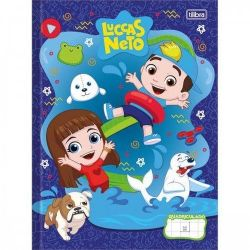 Caderno Grande Brochura 40 Folhas Quadriculado 1x1cm Luccas Neto