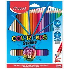 Lápis de Cor Maped Color Peps Strong 24 Cores